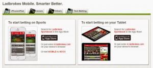 Мобилни приложения на Ladbrokes
