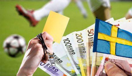Шведски футболист с умишлен картон